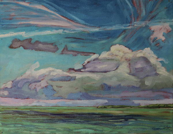 Lake Huron Painting - Chantry Sky Of Many Clouds by Phil Chadwick