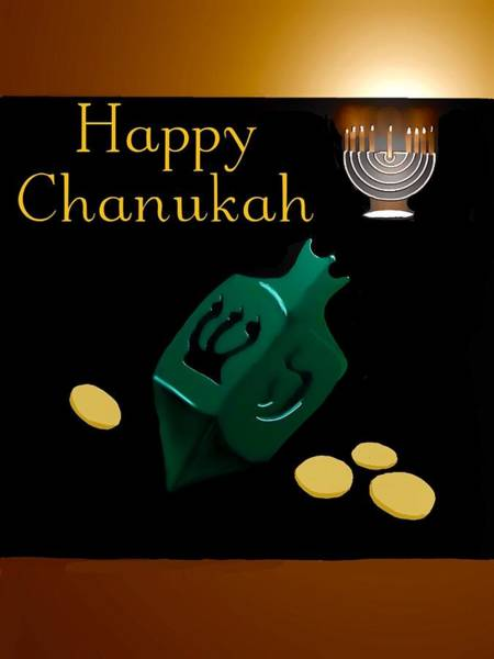 Digital Art - Chanukah Greeting by Gerry Morgan