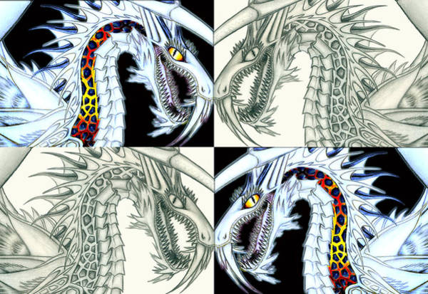 Digital Art - Chaos Dragon Fact Vs Fiction by Shawn Dall