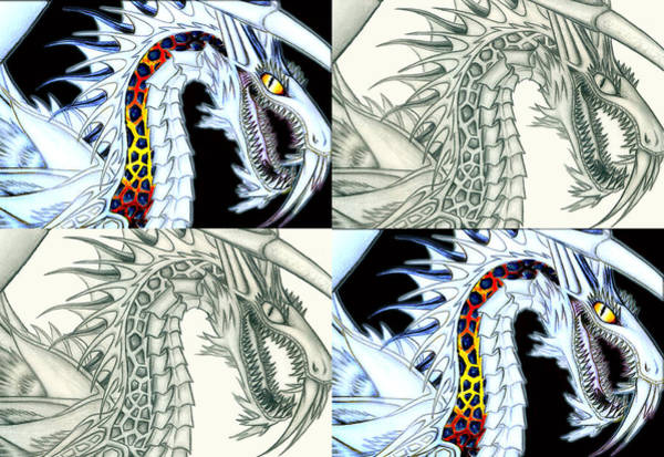 Digital Art - Chaos Dragon Fact W Fiction by Shawn Dall