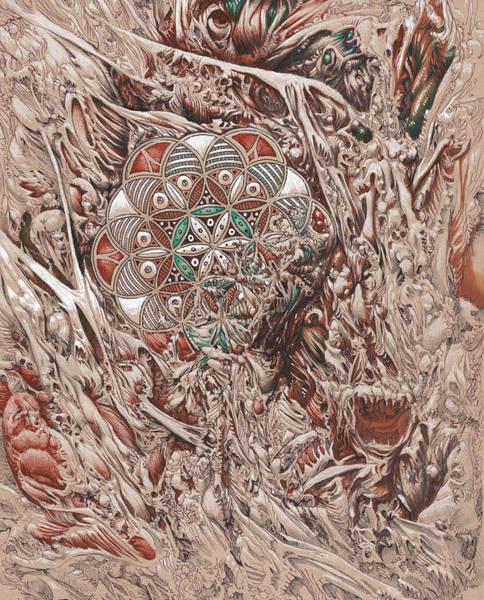 Organic Drawing - Chaos Mandala by Will Shanklin