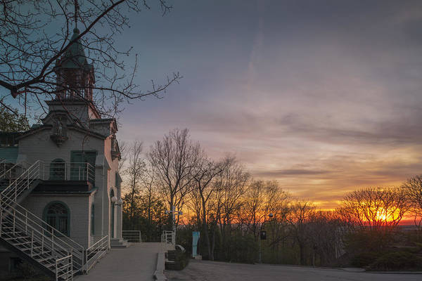 Photograph - Chapel And Sunset by Pierre D'Amours