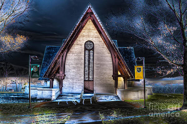 Photograph - Chapel At Night by William Norton