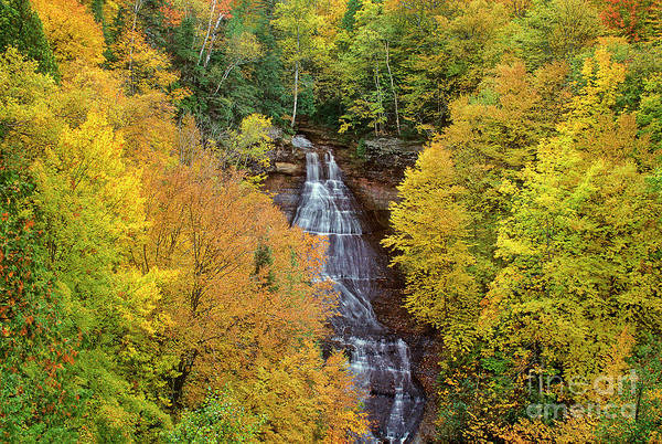 Photograph - Chapel Falls Autumn Upper Peninsula Michigan by Dave Welling