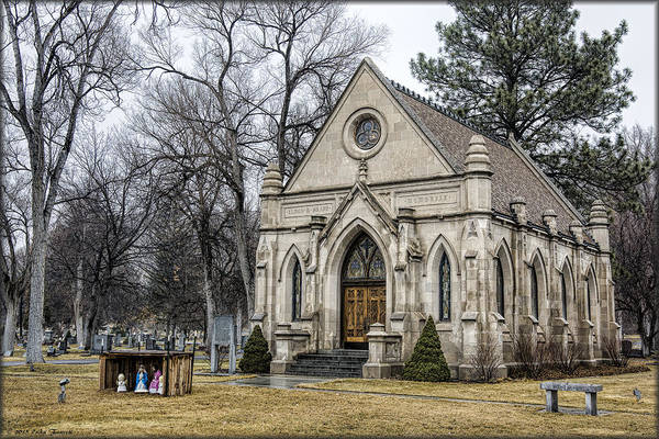 Photograph - Chapel In Mountain View Cemetery by Erika Fawcett