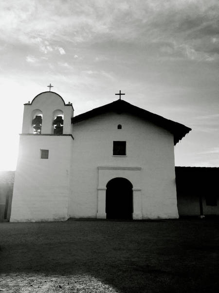 Mission Santa Barbara Photograph - Chapel In The Shadows- Art By Linda Woods by Linda Woods