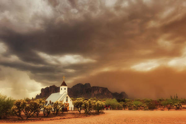 Chapel In The Storm Art Print