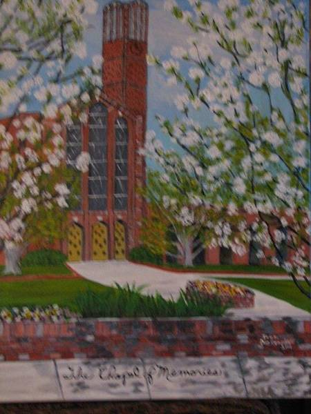 Wall Art - Painting - Chapel Of Memories by Inez Dickerson