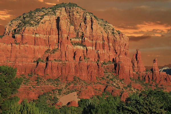 Red Rocks Of Sedona Photograph - Chapel Of The Holy Cross At Sunset by Donna Kennedy