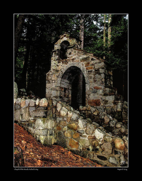 Photograph - Chapel Of The Woods Arch by Wayne King