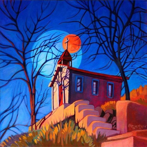 Chapels Painting - Chapel On The Hill by Art West