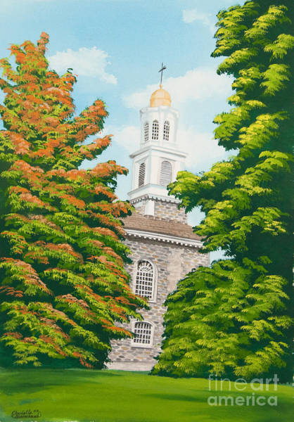 College Campus Painting - Chapel On The Hill by Charlotte Blanchard