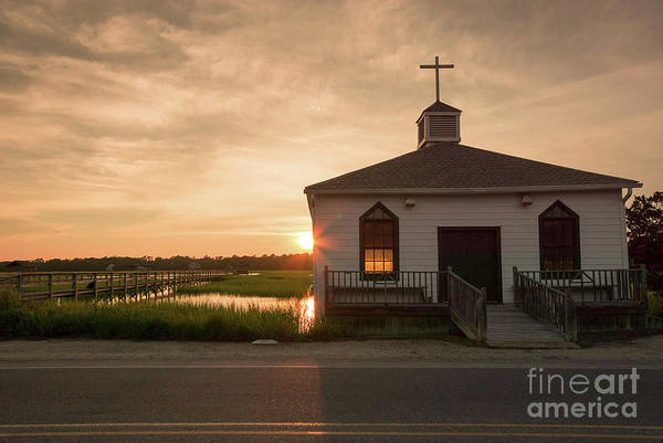 South Atlantic Wall Art - Photograph - Chapel On The Marsh by DiFigiano Photography