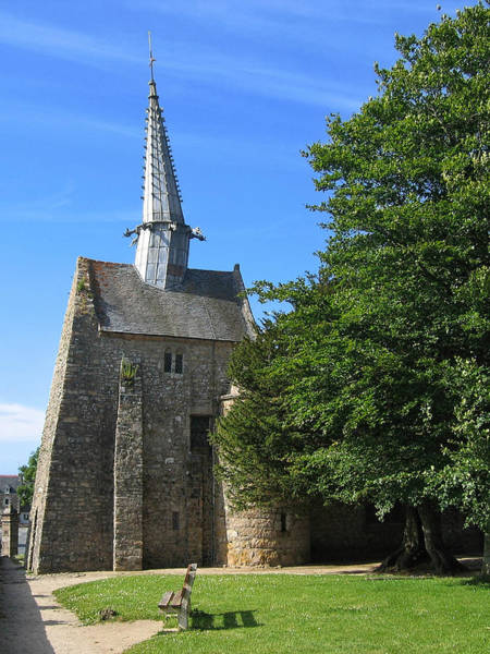 Photograph - Chapel Saint-gonery - Breton Church With Crooked Steeple by Menega Sabidussi