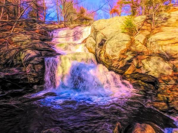 Digital Art - Chapman Falls Connecticut by Rusty R Smith