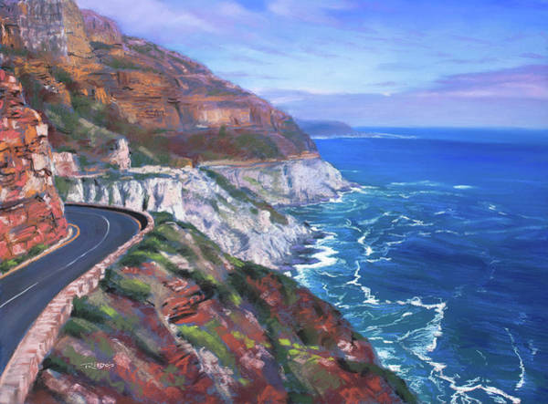 Pastel - Chapman's Peak Drive 2 by Christopher Reid