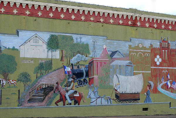 Photograph - Chappell Hill Mural by Connie Fox