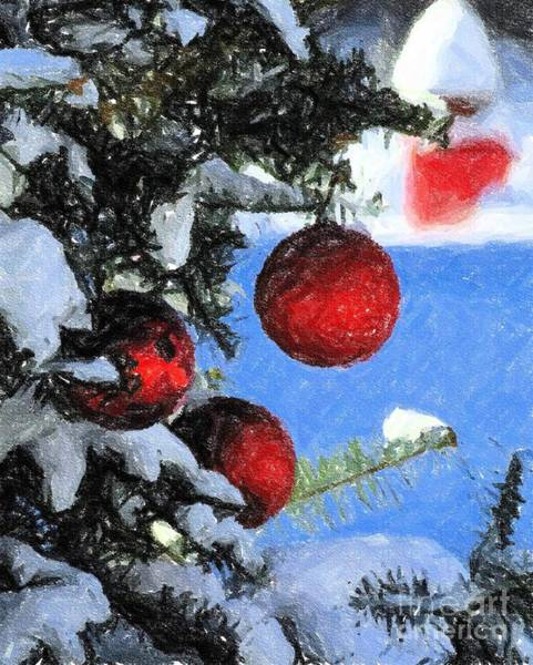 Photograph - Charcoal Ornaments by Donna Cavanaugh