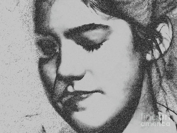 Photograph - Charcoal Portrait by Donna Cavanaugh