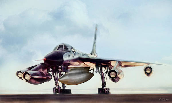 Cold War Digital Art - Chariot Of The Gods B-58 by Peter Chilelli