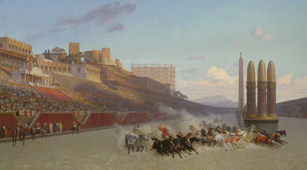 Wall Art - Painting - Chariot Race by Jean Leon Gerome