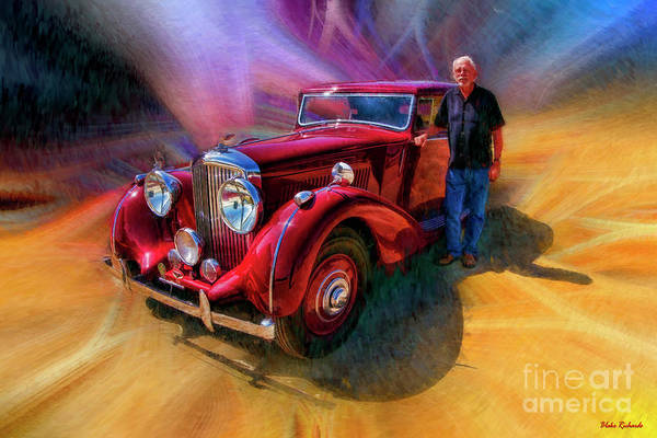 Photograph - Charles And His 1939 Bentley  by Blake Richards