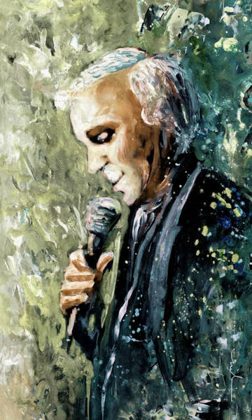 Painting - Charles Aznavour 01 by Miki De Goodaboom