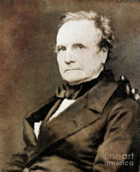 Poetry Painting - Charles Babbage, Inventor By Mary Bassett by Mary Bassett