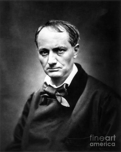 1863 Photograph - Charles Baudelaire by Granger