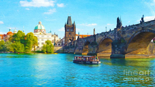 Charles Bridge Photograph - Charles Bridge Prague by Laura D Young