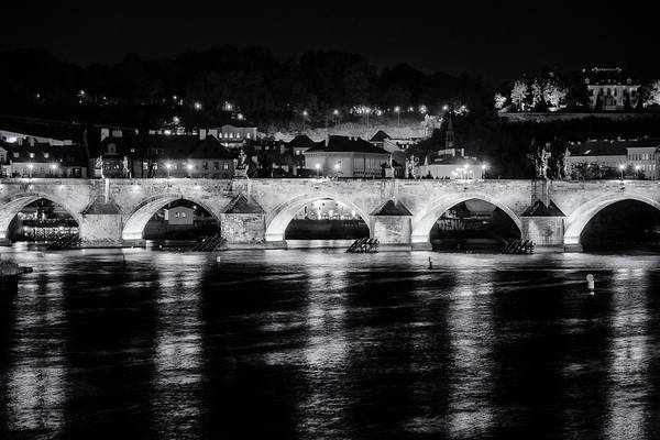 Photograph - Charles Bridge Prague Night by Joan Carroll