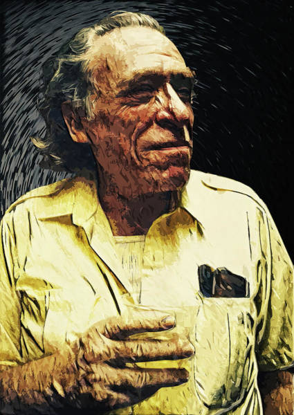 Indie Wall Art - Digital Art - Charles Bukowski by Zapista Zapista