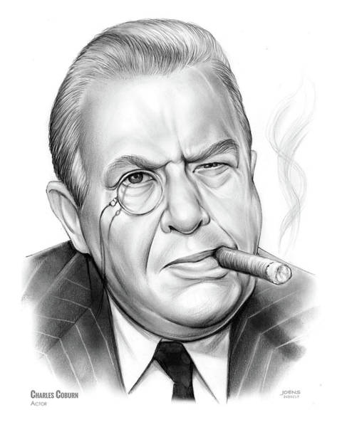 Charles Drawing - Charles Coburn by Greg Joens