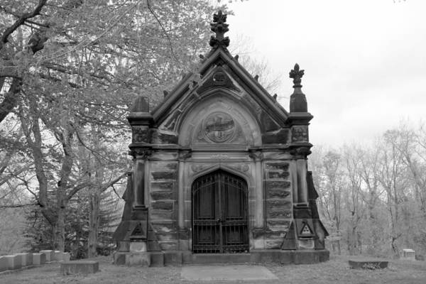 Charnel Photograph - Charles Collins Mausoleum by Valerie Collins