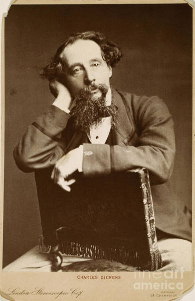 Goatee Photograph - Charles Dickens by Granger