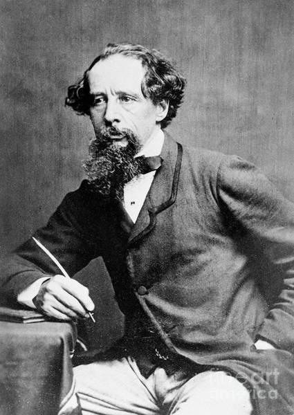 Charles Photograph - Charles Dickens by Herbert Watkins