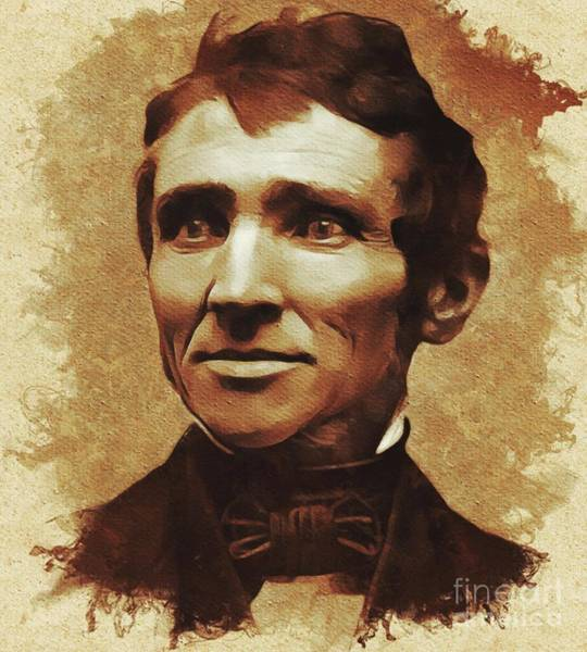 Wall Art - Painting - Charles Goodyear, Inventor by Mary Bassett