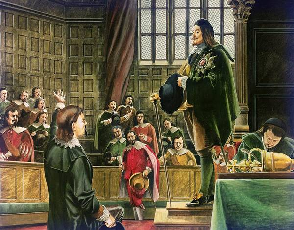 Confrontation Wall Art - Painting - Charles I In The House Of Commons by English School