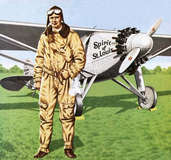 Wall Art - Painting - Charles Lindbergh by John Keay