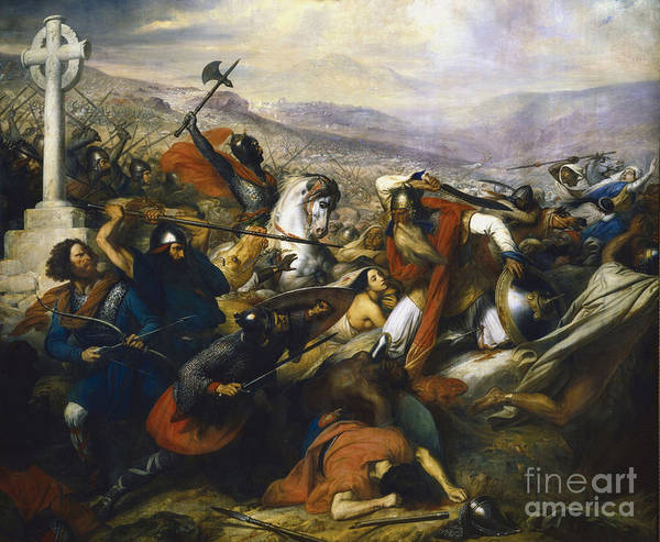Painting - Charles Martel In The Battle Of Tours by Celestial Images