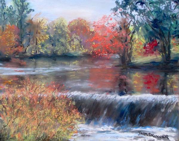 Wall Art - Painting - Charles River, Natick by Jack Skinner
