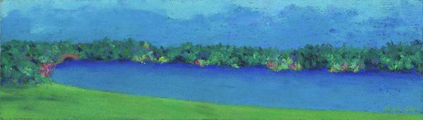 Pastel - Charles River, Spring by Anne Katzeff