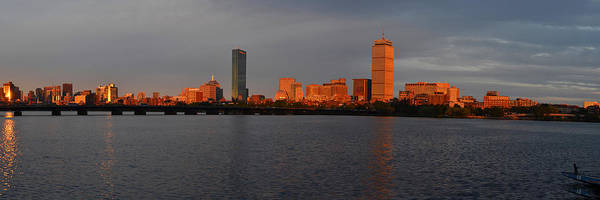 Photograph - Charles River Sunset Panorama Boston Ma by Toby McGuire