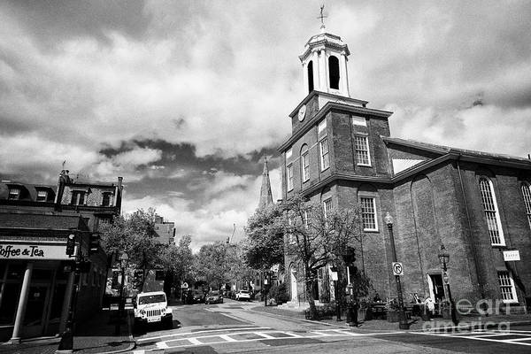 Wall Art - Photograph - charles street meeting house church and view down mount vernon street beacon hill Boston USA by Joe Fox
