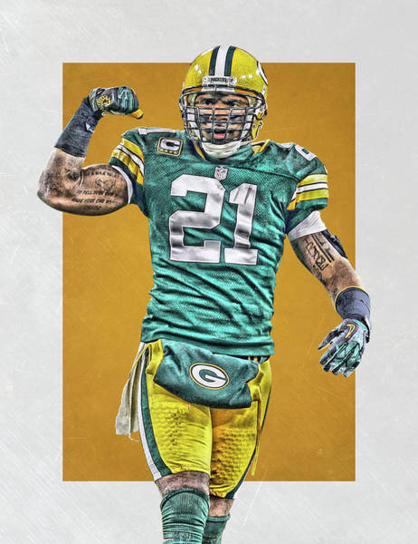 Green Bay Packers Wall Art - Painting - Charles Woodson Green Bay Packers Art by Joe Hamilton