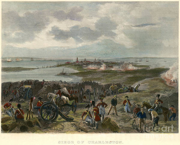 Painting - Charleston 1780 by Granger
