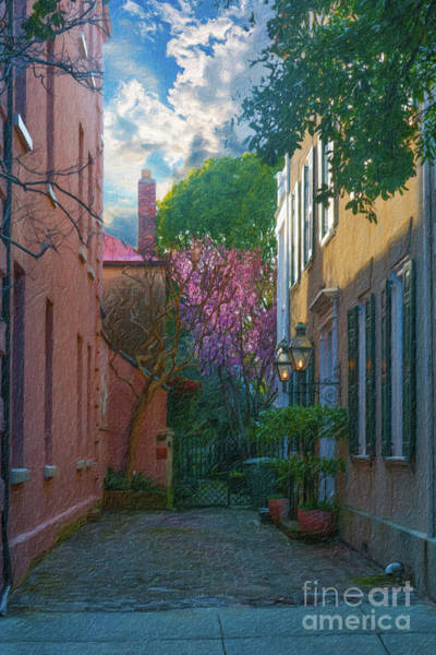 Painting - Charleston Alley In The Spring by Dale Powell
