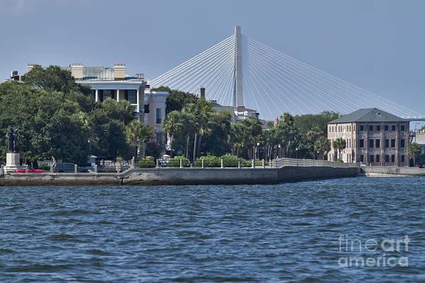 Battery Photograph - Charleston Battery Row And Bridge  by Dustin K Ryan