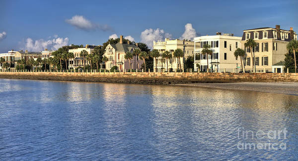 Charleston Battery Row South Carolina  Art Print