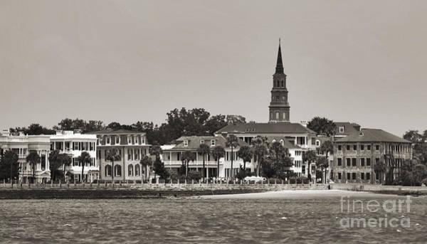 Battery Photograph - Charleston Battery South Carolina Sepia by Dustin K Ryan